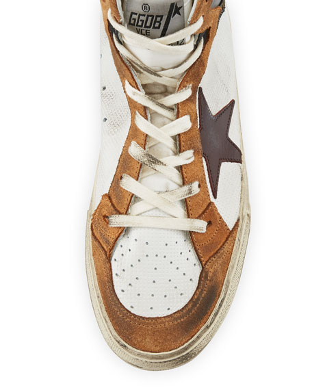 Men's Multicolor High-Top Leather Sneakers