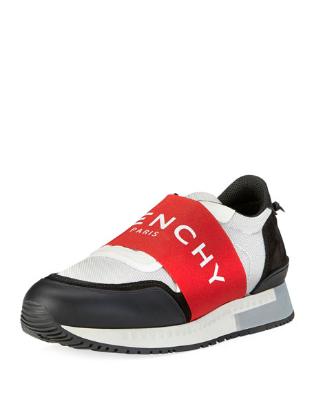 Givenchy Banded Active Running Sneaker, Red