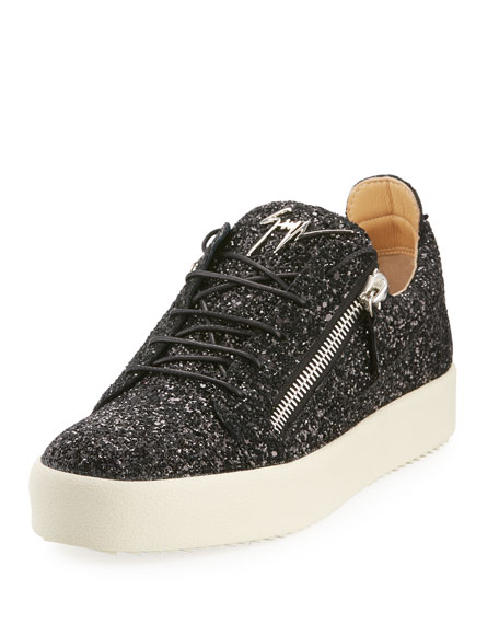Giuseppe Zanotti Men's Glitter Low-Top Sneakers