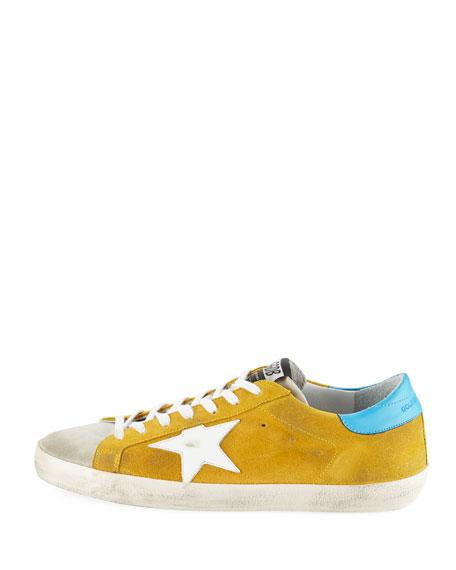 Men's Superstar Suede Low-Rise Sneaker, Yellow