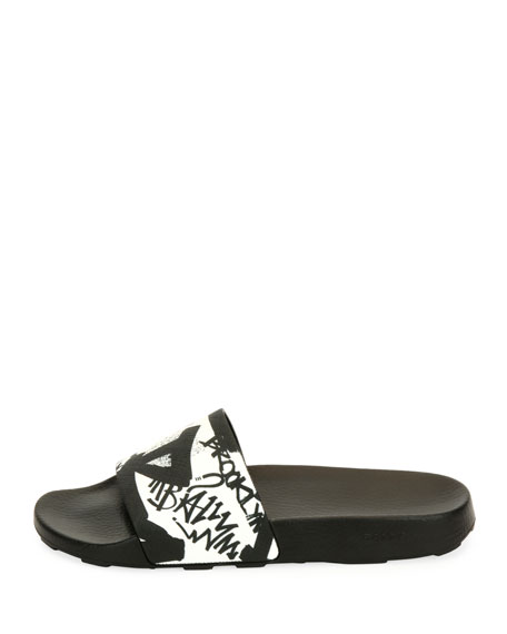 Slanter Graffiti Slide Sandal