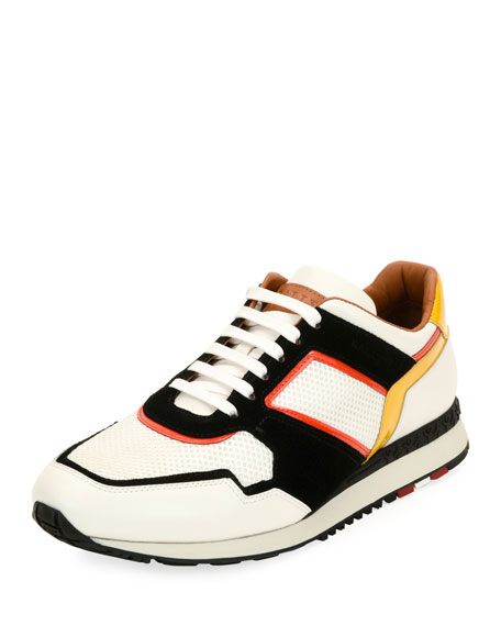 Bally Astreo Leather & Mesh Running Sneaker and