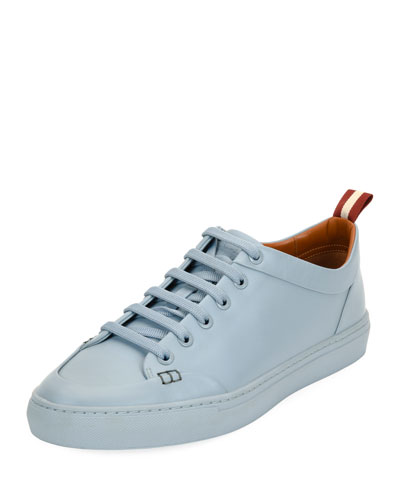 Helliot Dip-Dyed Leather Low-Top Sneaker, Blue
