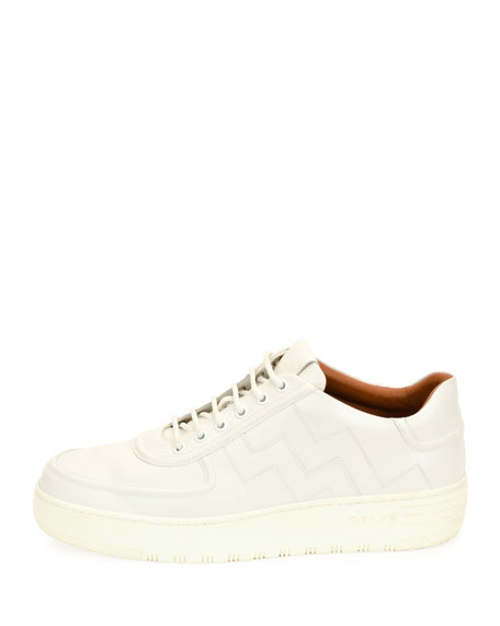 Othello Leather Low-Top Platform Sneaker