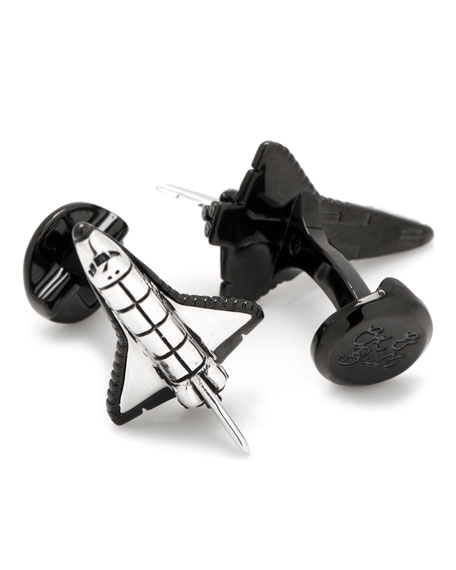 3D Space Shuttle Cuff Links
