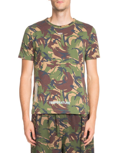 Arrows Camouflage-Print Short-Sleeve T-Shirt