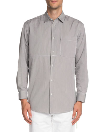 Striped Convertible Sport Shirt