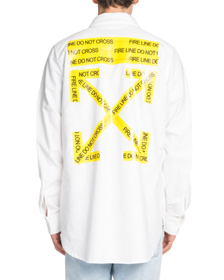 Firetape Shirt Jacket with Contrasting Graphic