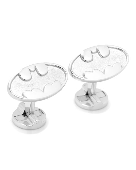 Batman Bat-Signal Sterling Silver Cuff Links