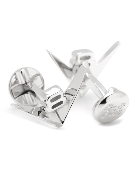 V-8 Car Engine Cuff Links