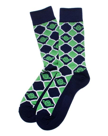 Star Wars Yoda Check Socks