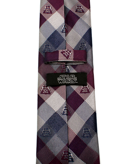 Star Wars Darth Vader Plaid Silk Tie