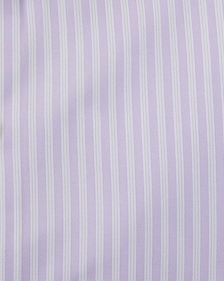 Fredrick Striped Cotton Barrel-Cuff Dress Shirt