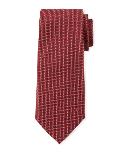 Dashed Silk Tie