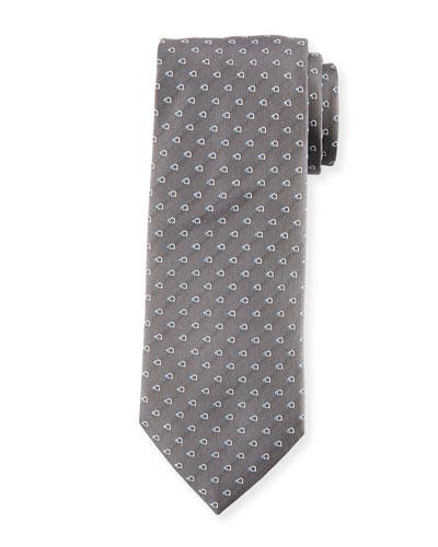 Gancini Dot Silk Tie