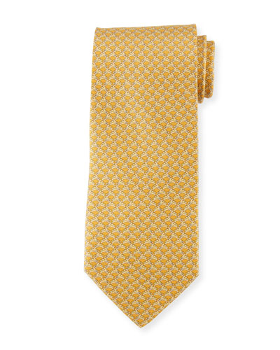 Rabbit-Pattern Silk Tie