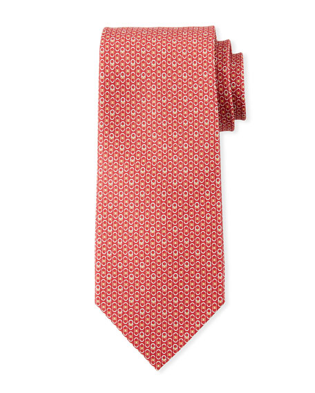 Salvatore Ferragamo Interlocking Gancini Silk Tie