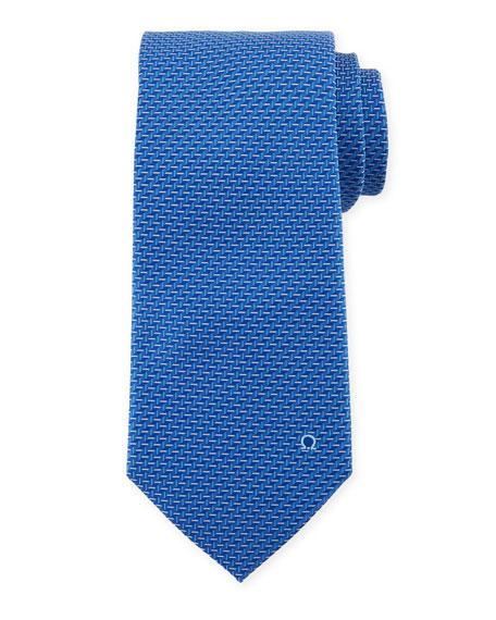 Salvatore Ferragamo Dash-Print Silk Tie