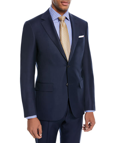 Super 130s Twill Wool Two-Piece Suit