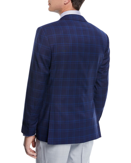 Super 130s Plaid Wool Blazer