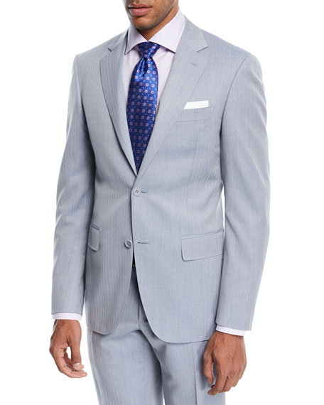 Canali Wool Herringbone Two-Piece Suit