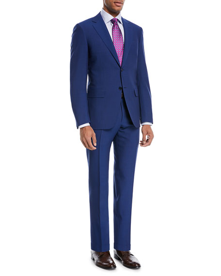 Double-Stripe Wool Two-Piece Suit