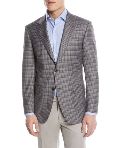 Super 130s Wool Check Two-Button Sport Coat