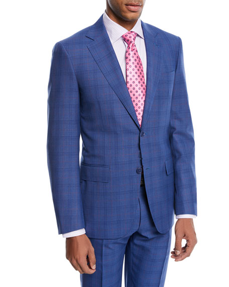 Canali Super 130s Plaid Wool Two-Piece Suit