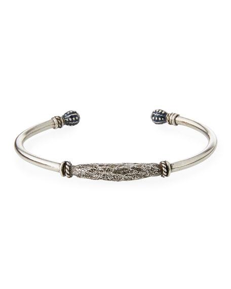 Men's Marrakech Silvertone Kick Cuff Bracelet