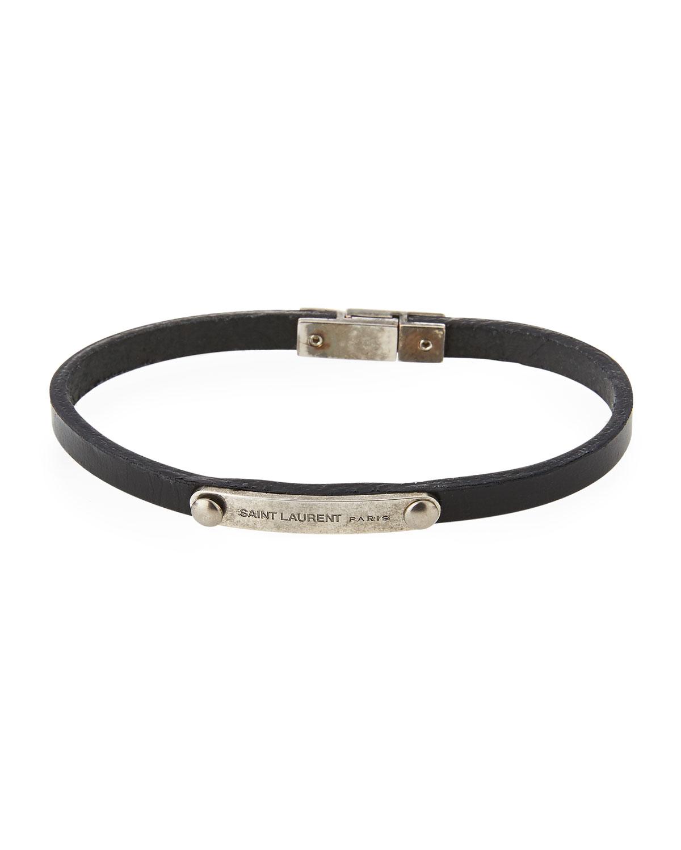 ec503a3fa037b Men's Magnet-Clasp Leather Bracelet