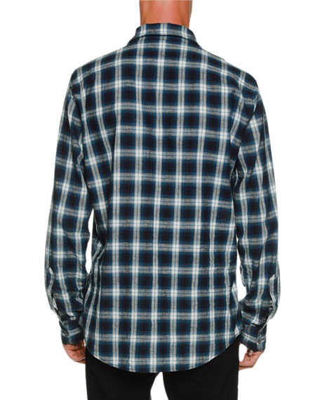 Military Long-Sleeve Check Shirt