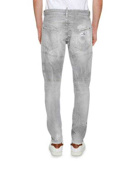 Faded Tidy Biker Jeans, Gray