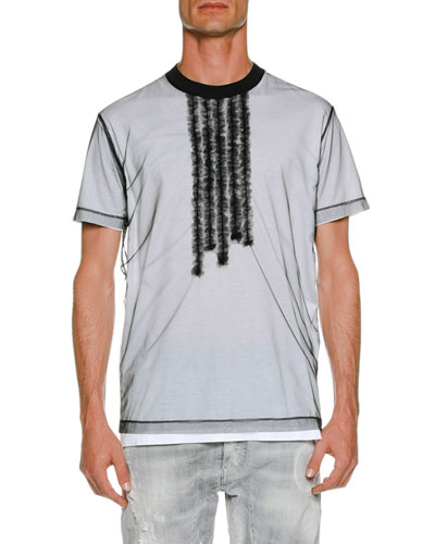 Organza Overlay T-Shirt