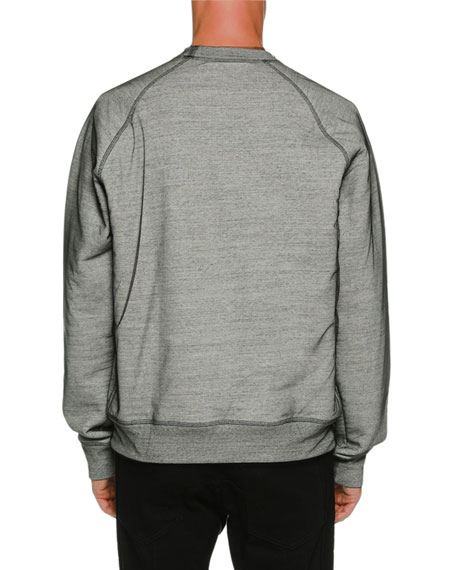Organza Overlay Long-Sleeve Sweatshirt