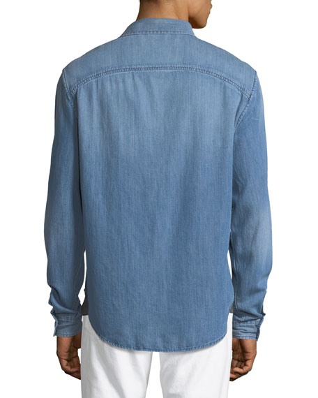 Military Woven Denim Shirt