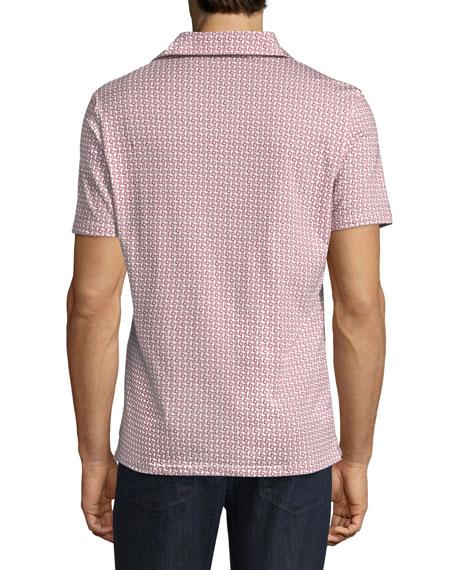 Geometric-Print Short-Sleeve Sport Shirt