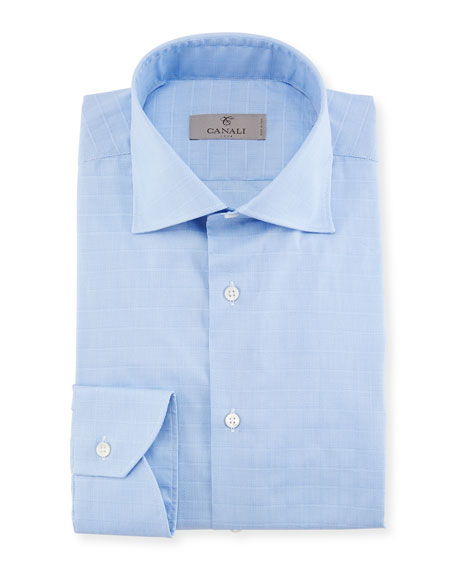 Canali Tattersall Cotton Dress Shirt