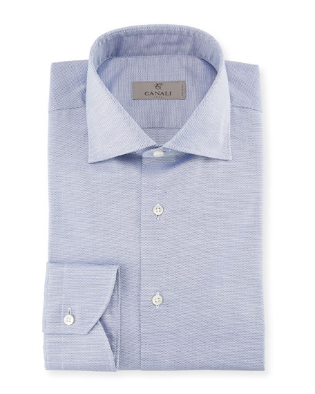 Canali Neat Dress Shirt, Blue