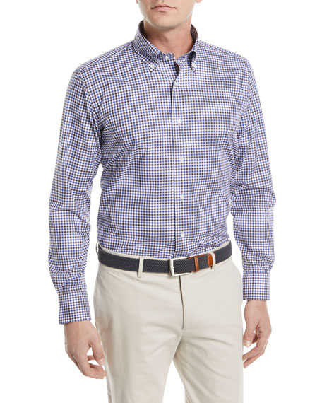 Gingham Cotton Sport Shirt