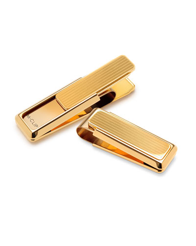 Gold-Plated Stainless Steel Money Clip