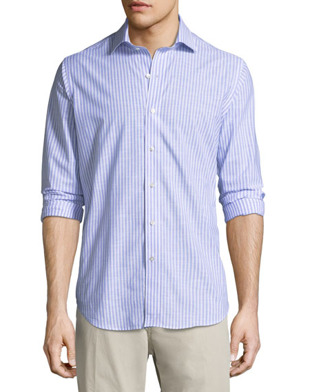 Summer Chambray Cotton Sport Shirt