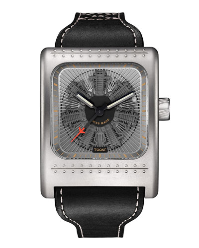 Radial C47W Leather Watch, Gray