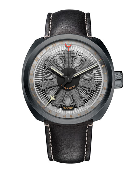 Radial C47C Leather Watch, Gray