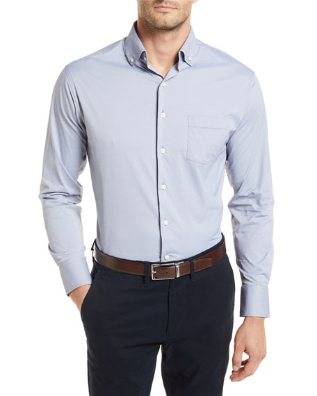Peter Millar Bernie Woven Long-Sleeve Shirt
