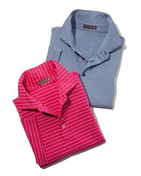 Jubilee Striped Jersey Polo Shirt