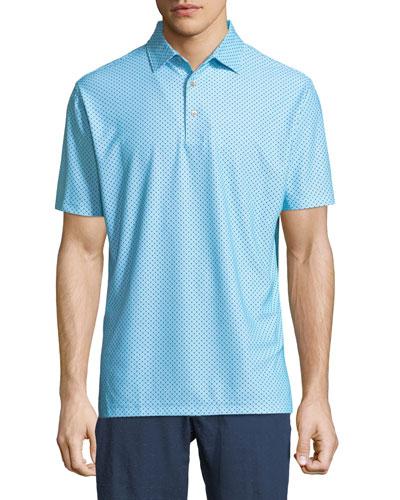 Covered Printed Polo Shirt