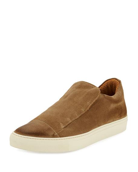 315 Reed Laceless Suede Slip-On Sneaker, Beige