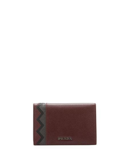 Prada Greche Saffiano Leather Wallet