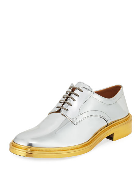 Metallic Patent Leather Oxford