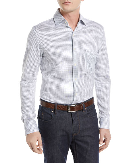 Peter Millar Ocean Spray Cotton Sport Shirt